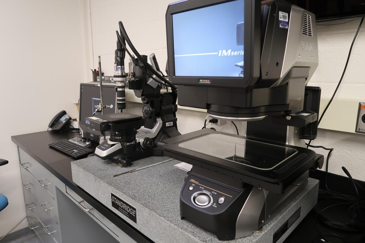 Keyence VHX-5000 Microscope and IM-7030T Optical Comparator