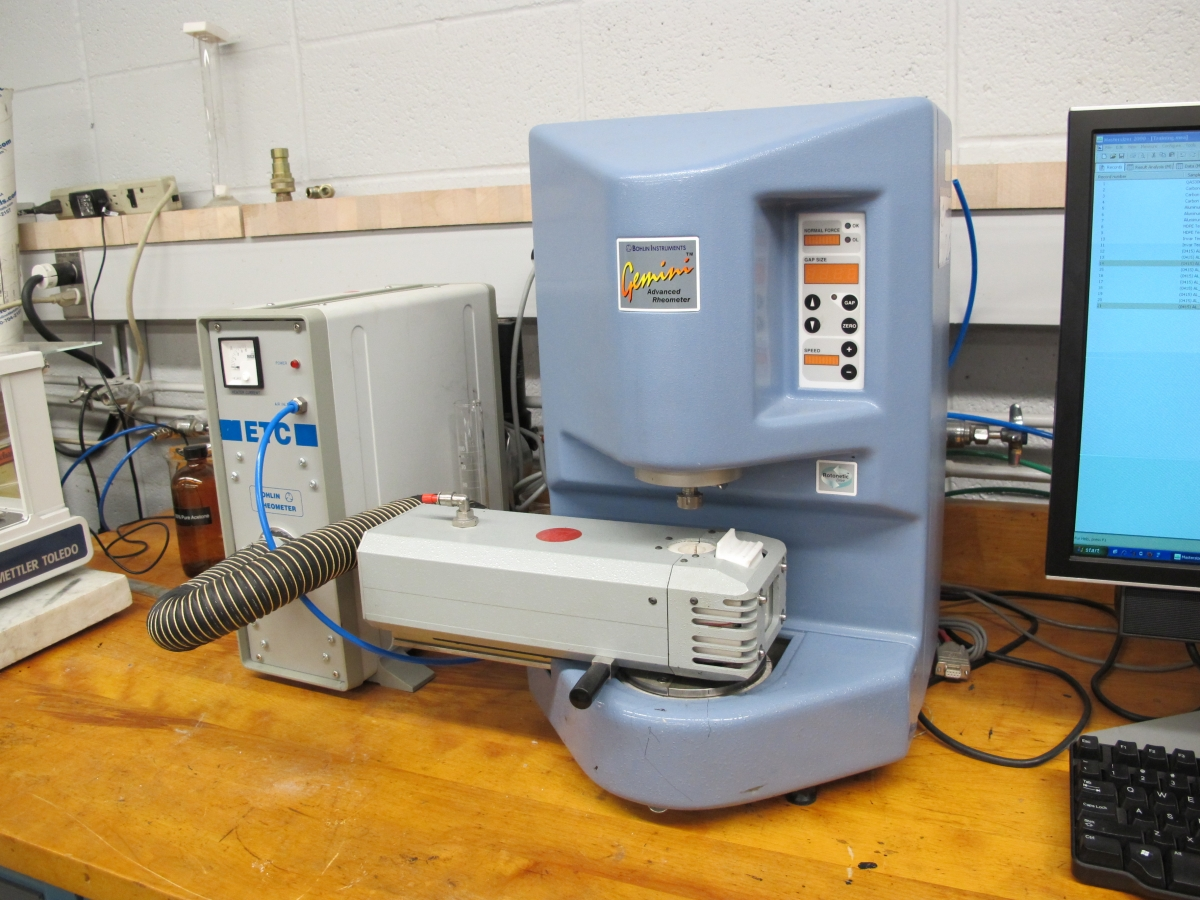 Gemini II Rheometer with furnace